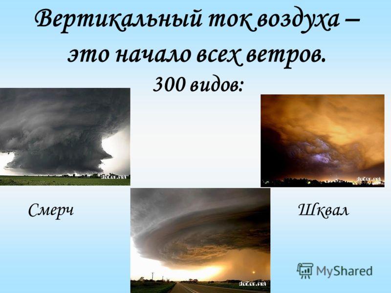 Вертикальный ток воздуха – это начало всех ветров. 300 видов: Смерч Шквал