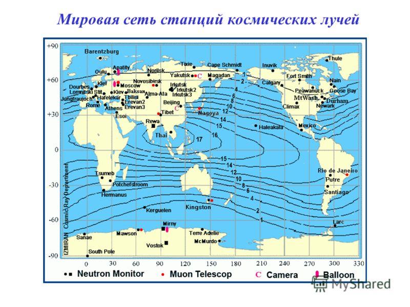 Мировая сеть станций космических лучей