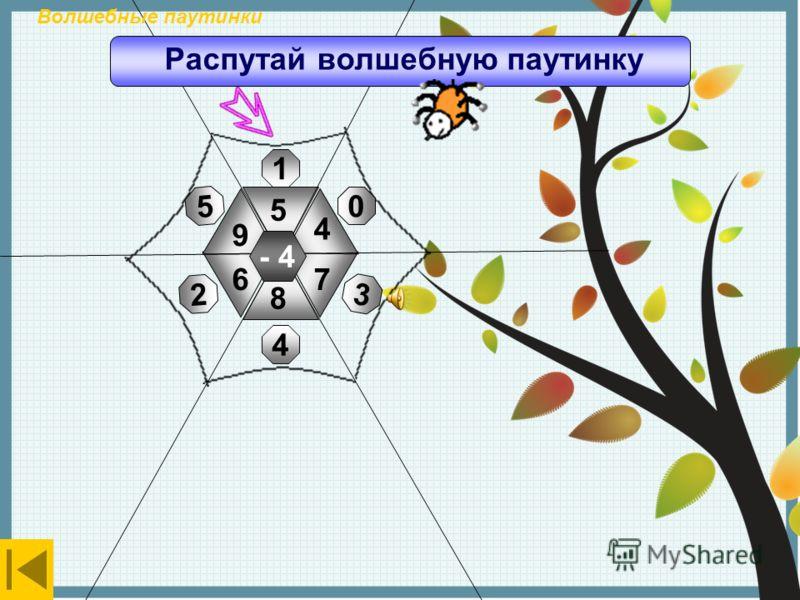+4 3 1 5 0 4 6 5 8 10 7 9 4 Волшебные паутинки Распутай волшебную паутинку