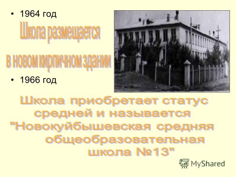 1964 год 1966 год