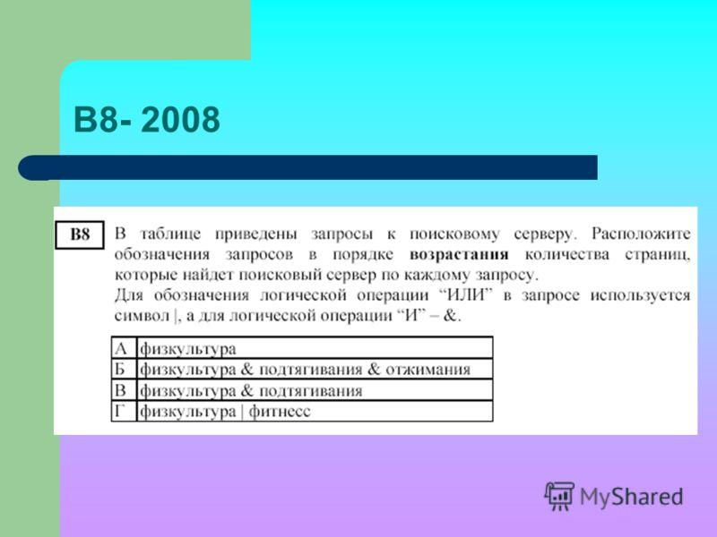 В8- 2008