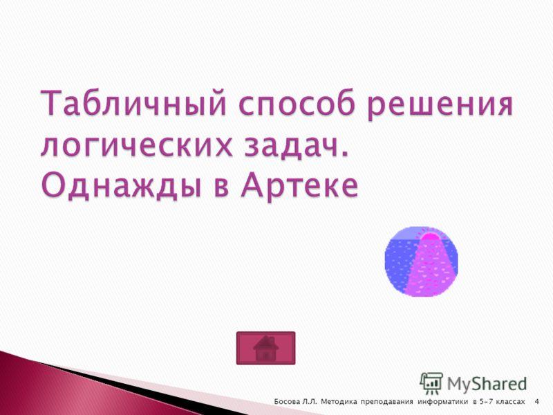 Босова Л.Л. Методика преподавания информатики в 5-7 классах4