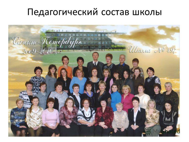 Педагогический состав школы