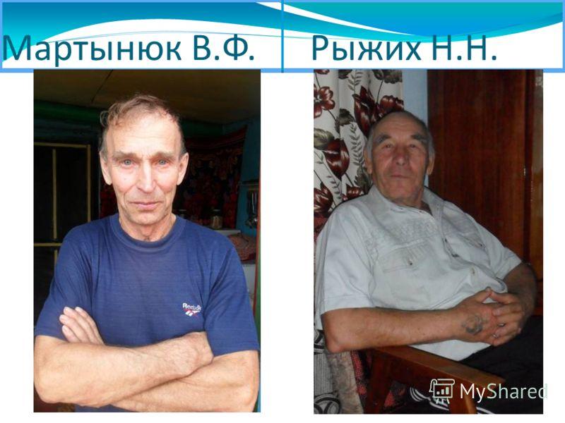Мартынюк В.Ф. Рыжих Н.Н.