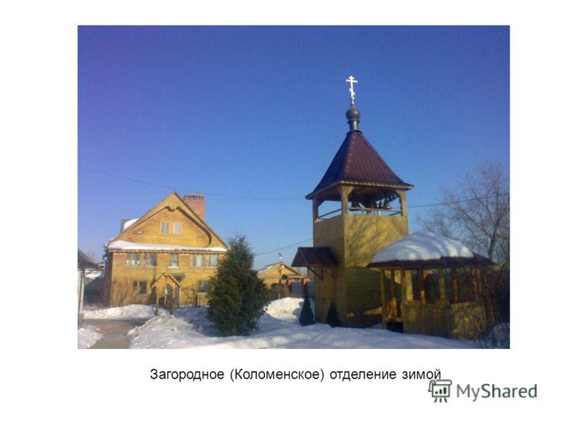 Загородное (Коломенское) отделение зимой