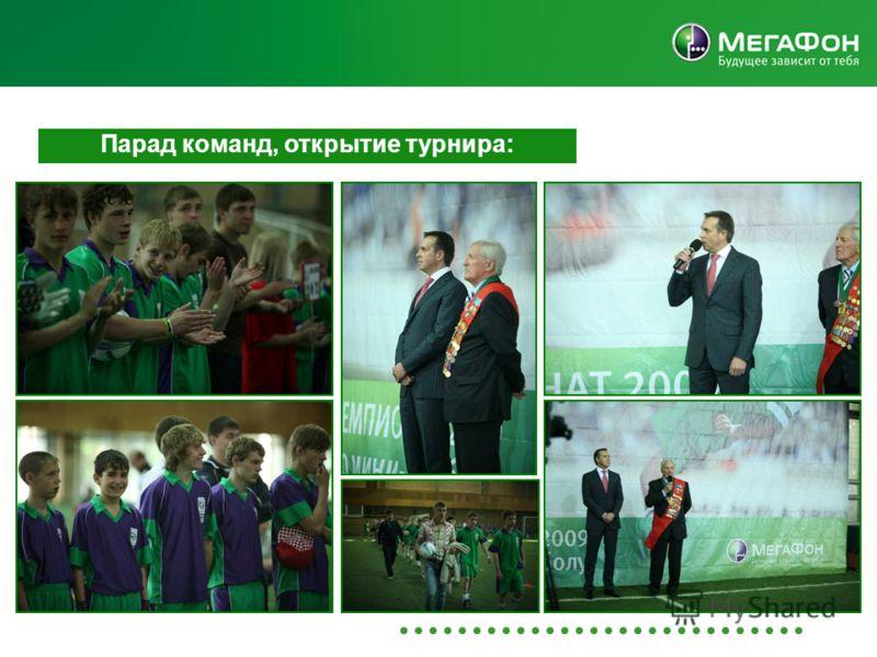 Парад команд, открытие турнира: