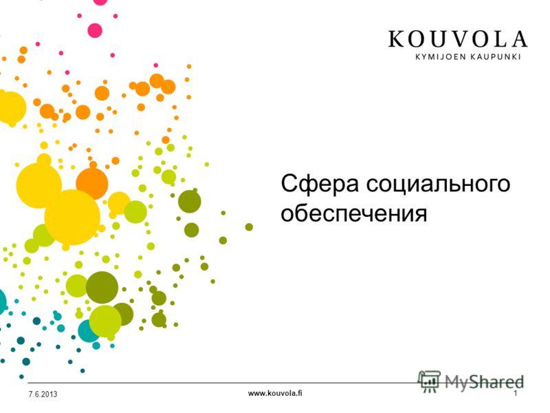 www.kouvola.fi1 7.6.2013 Сфера социального обеспечения