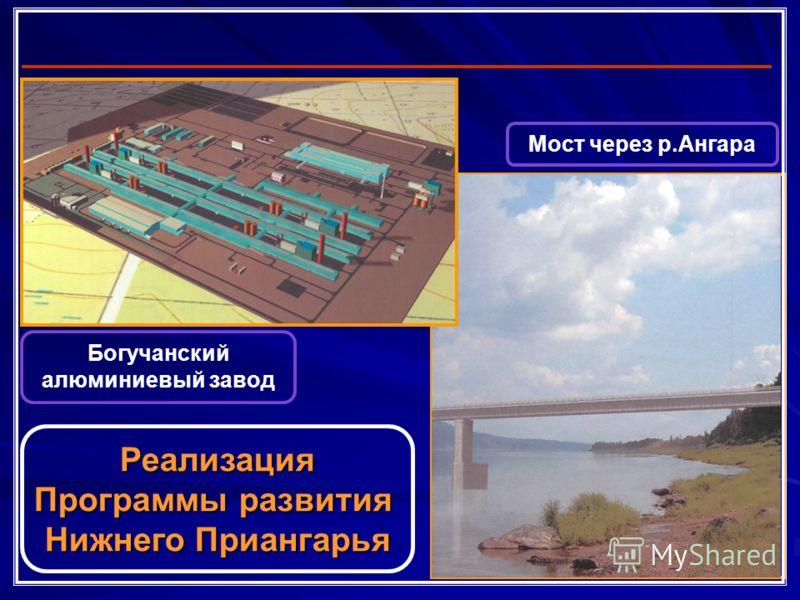 Богучанский алюминиевый завод Мост через р.Ангара Реализация Программы развития Нижнего Приангарья