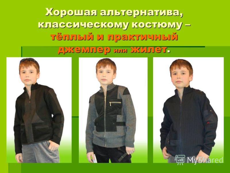 Хорошая альтернатива, классическому костюму – тёплый и практичный джемпер или жилет.