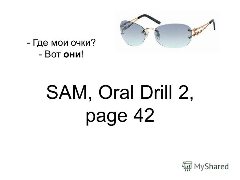 SAM, Oral Drill 2, page 42 - Где мои очки? - Вот они!