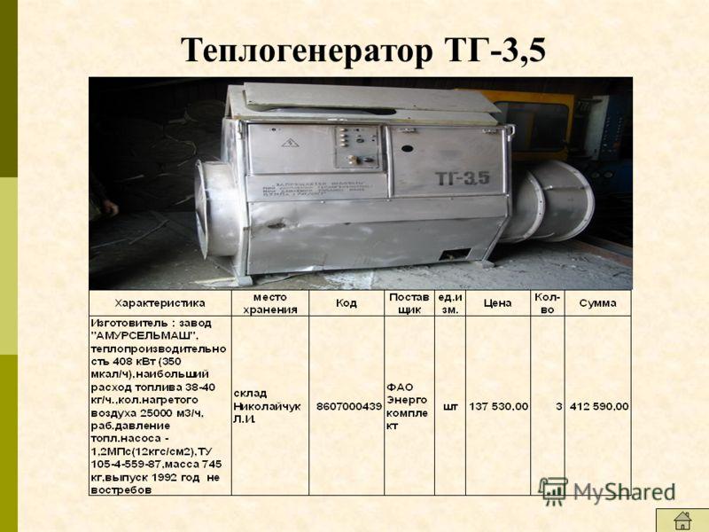 Теплогенератор ТГ-3,5