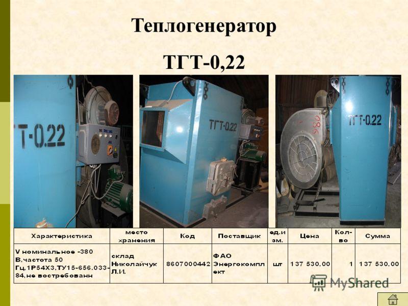 Теплогенератор ТГТ-0,22