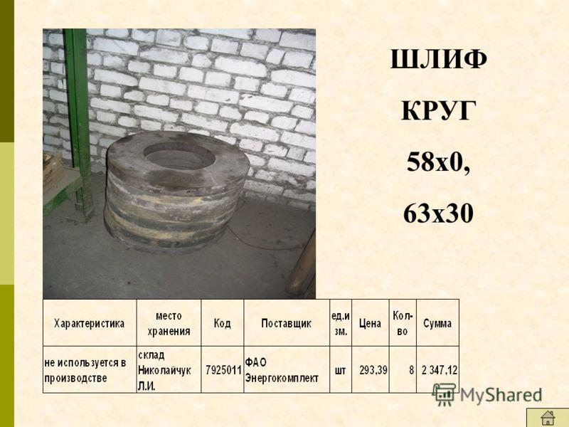 ШЛИФ КРУГ 58х0, 63х30