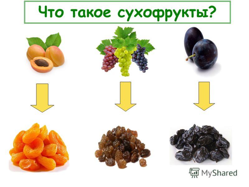 Что такое сухофрукты?