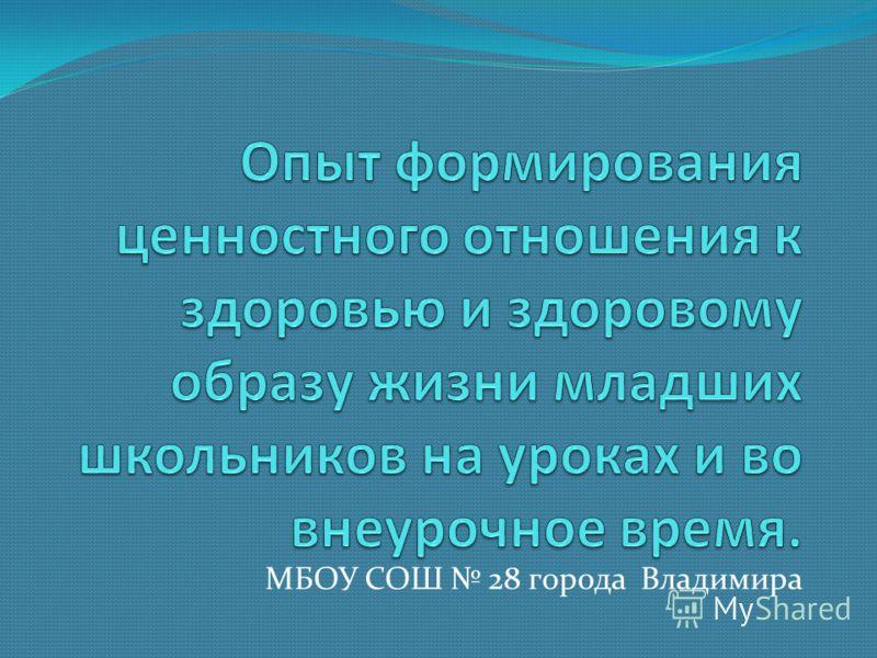 МБОУ СОШ 28 города Владимира
