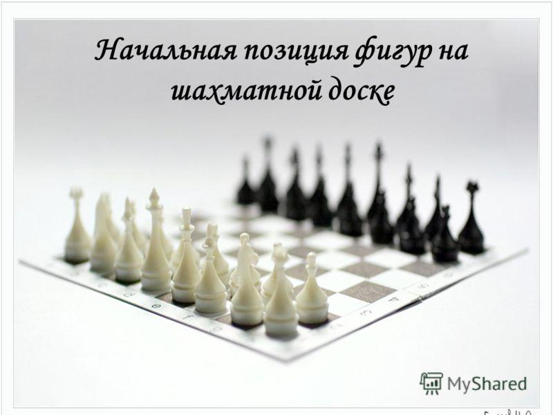Начальная позиция фигур на шахматной доске