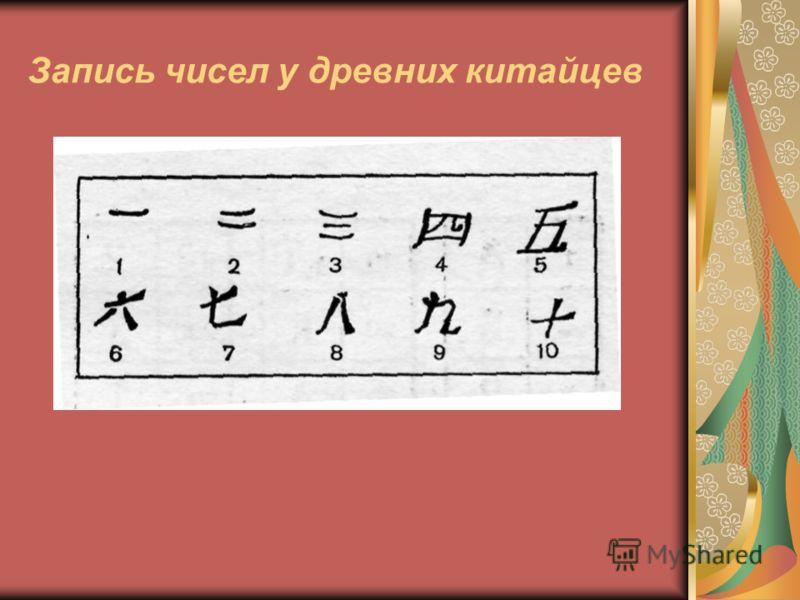 Запись чисел у древних китайцев