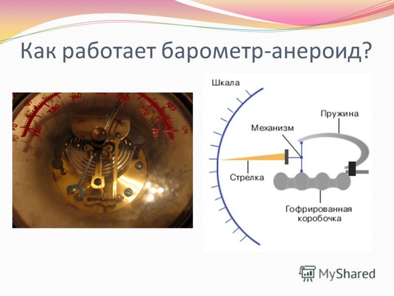 Как работает барометр-анероид?