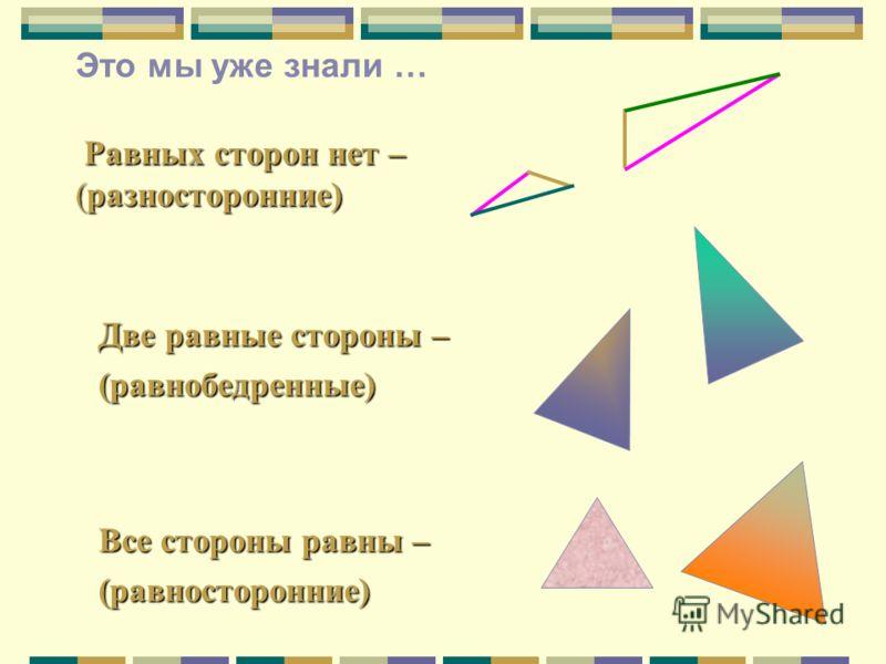 A C B A1A1 C1C1 B1B1 Каждый из этих треугольников можно наложить на другой так, что они полностью совместятся, т.е. они равны Это мы уже знали … Сумма длин трех сторон треугольника называется его периметром