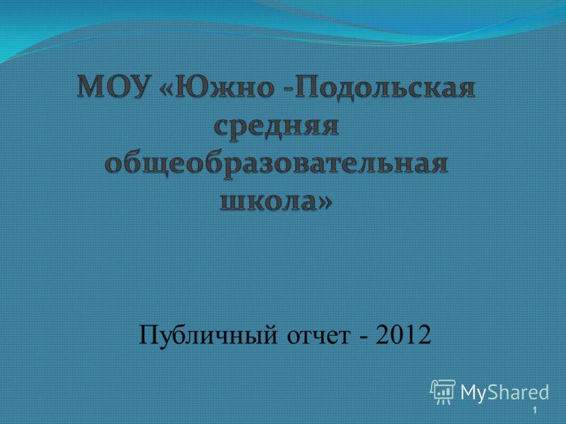 Публичный отчет - 2012 1