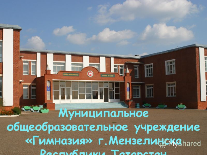 Муниципальное общеобразовательное учреждение «Гимназия» г.Мензелинска Республики Татарстан