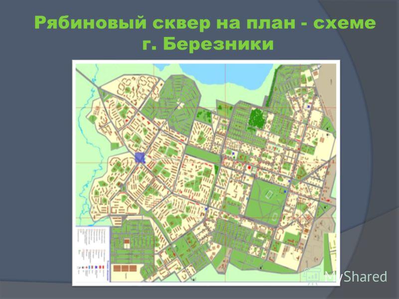 Рябиновый сквер на план - схеме г. Березники