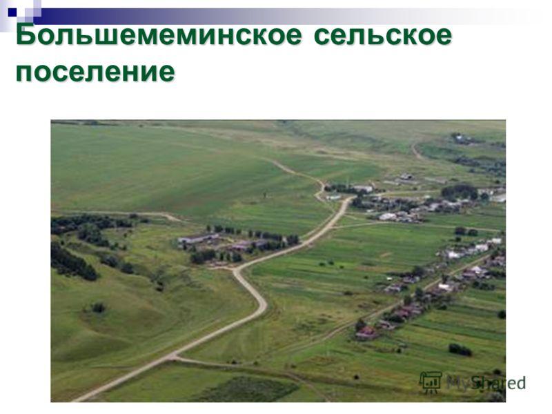 Большемеминское сельское поселение
