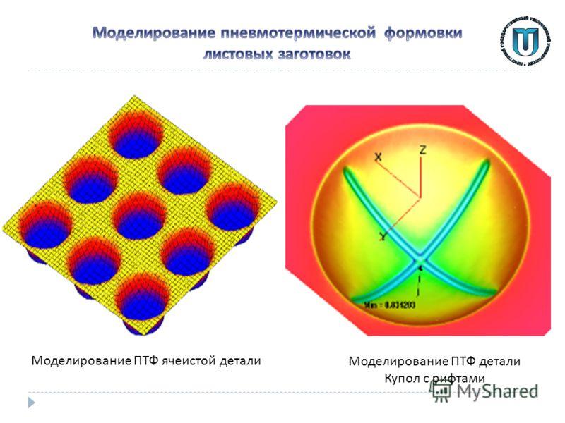 Моделирование ПТФ ячеистой детали Моделирование ПТФ детали Купол с рифтами