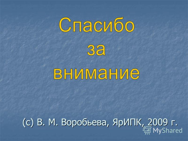 (с) В. М. Воробьева, ЯрИПК, 2009 г.