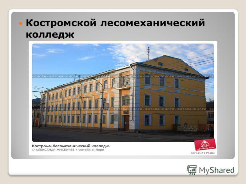 Костромской лесомеханический колледж