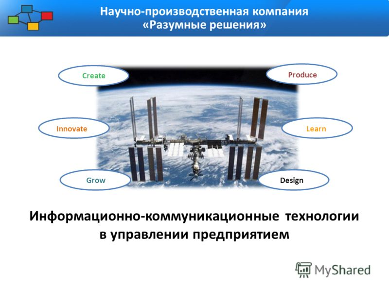 Информационно-коммуникационные технологии в управлении предприятием Научно-производственная компания «Разумные решения» Create Innovate GrowDesign Produce Learn