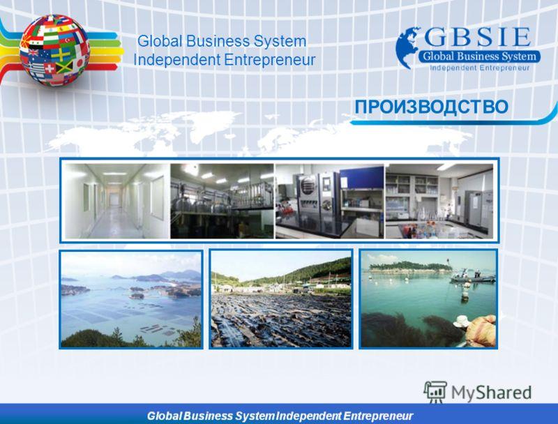 Global Business System Independent Entrepreneur ПРОИЗВОДСТВО