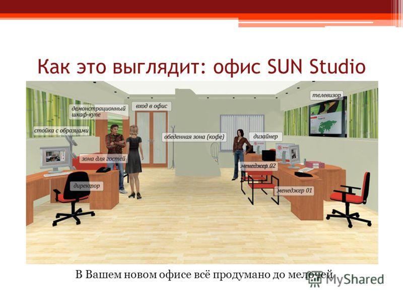 Как это выглядит: офис SUN Studio В Вашем новом офисе всё продумано до мелочей