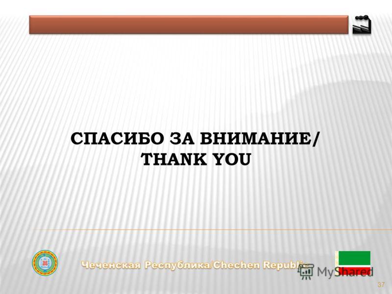 37 СПАСИБО ЗА ВНИМАНИЕ/ THANK YOU