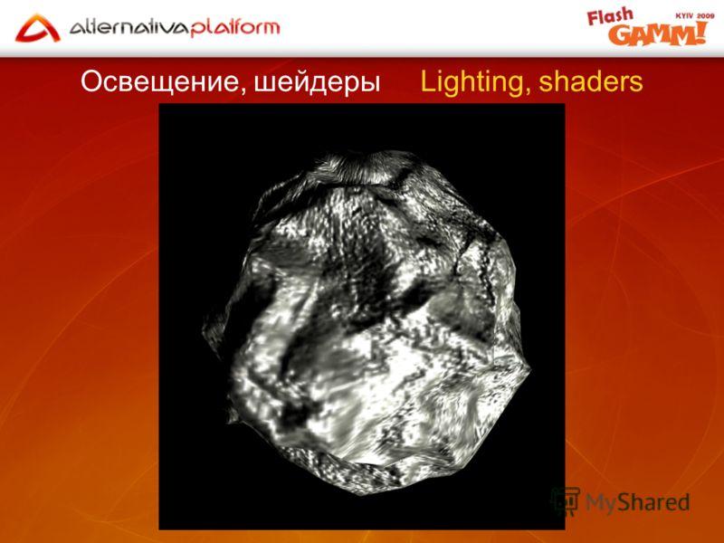 Освещение, шейдеры Lighting, shaders