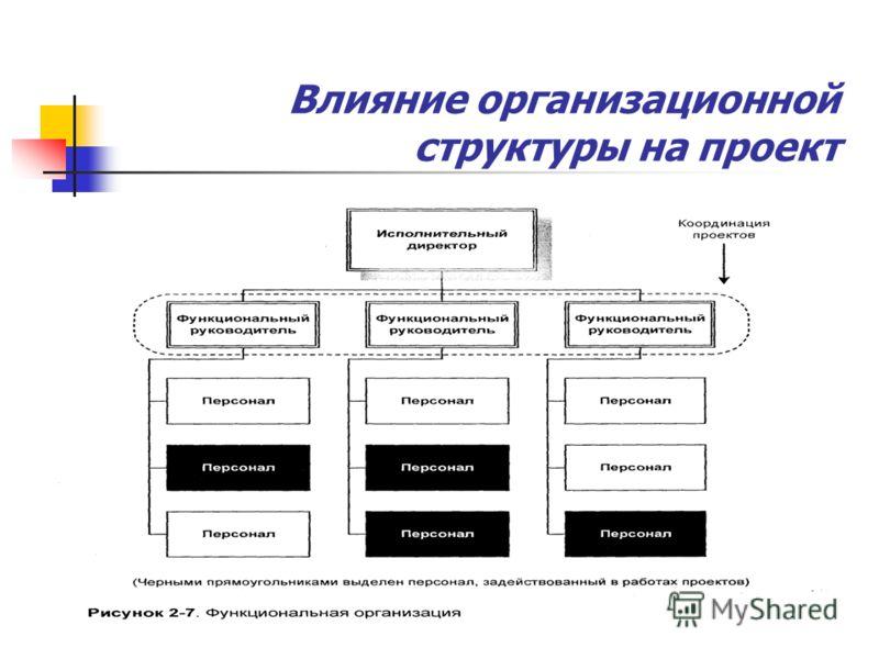 Влияние организационной структуры на проект