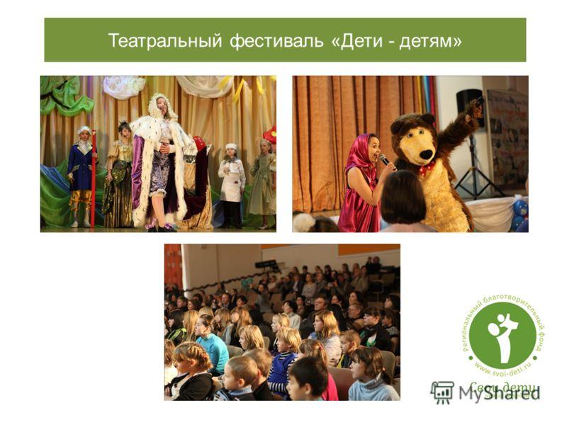 Театральный фестиваль «Дети - детям»