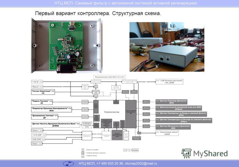 Первый вариант контроллера. Структурная схема.