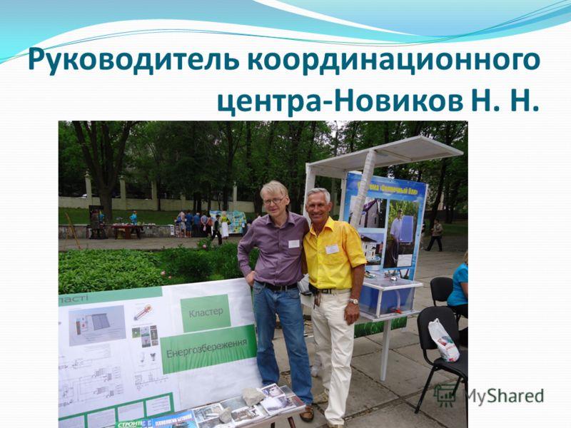 Руководитель координационного центра-Новиков Н. Н.