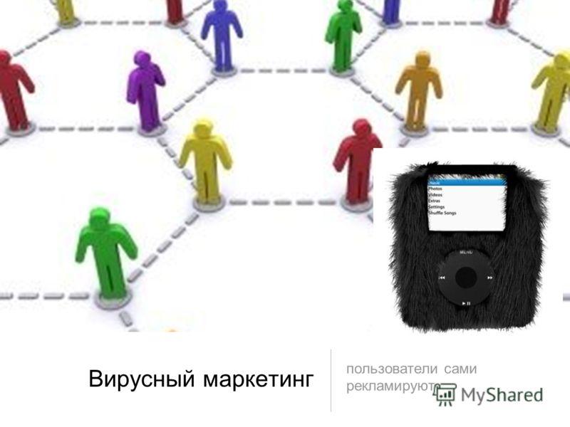 Вирусный маркетинг пользователи сами рекламируют