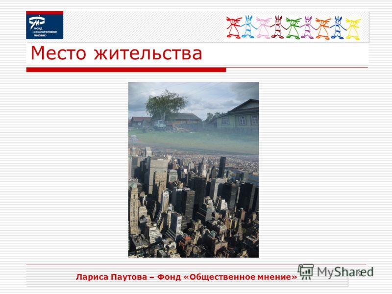 9 Место жительства Лариса Паутова – Фонд «Общественное мнение»