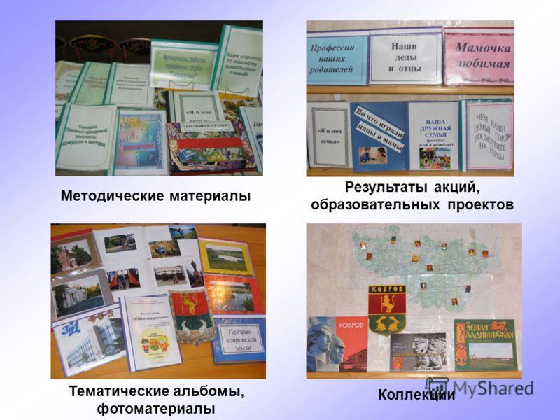 Коллекции Тематические альбомы, фотоматериалы Методические материалы Результаты акций, образовательных проектов