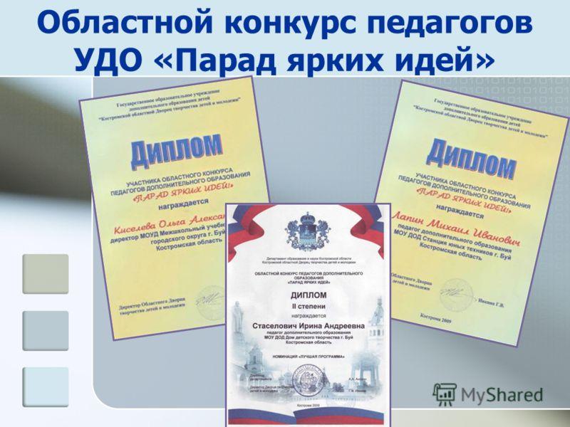 Областной конкурс педагогов УДО «Парад ярких идей»