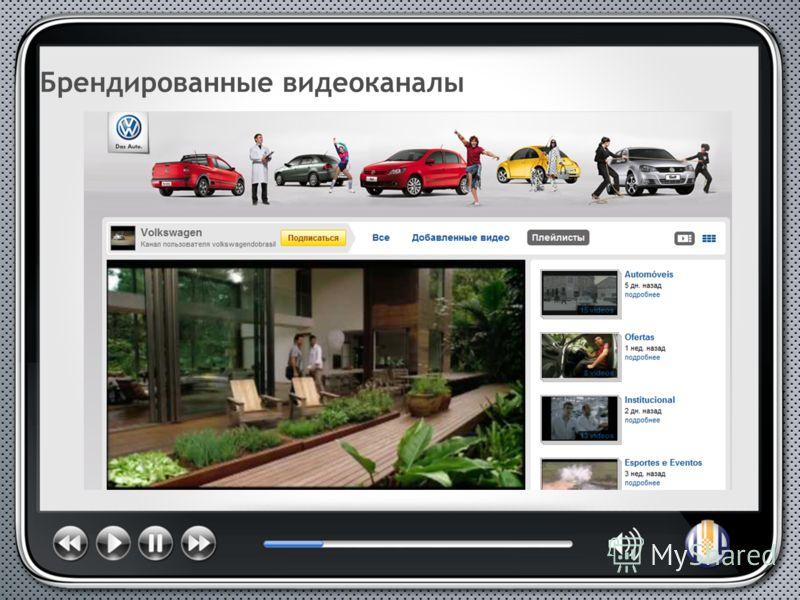 Брендированные видеоканалы