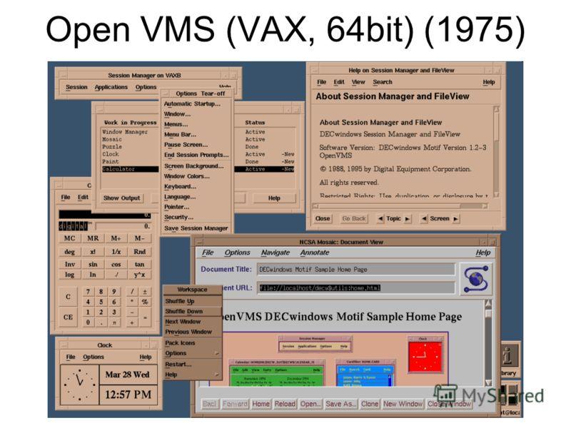 Open VMS (VAX, 64bit) (1975)
