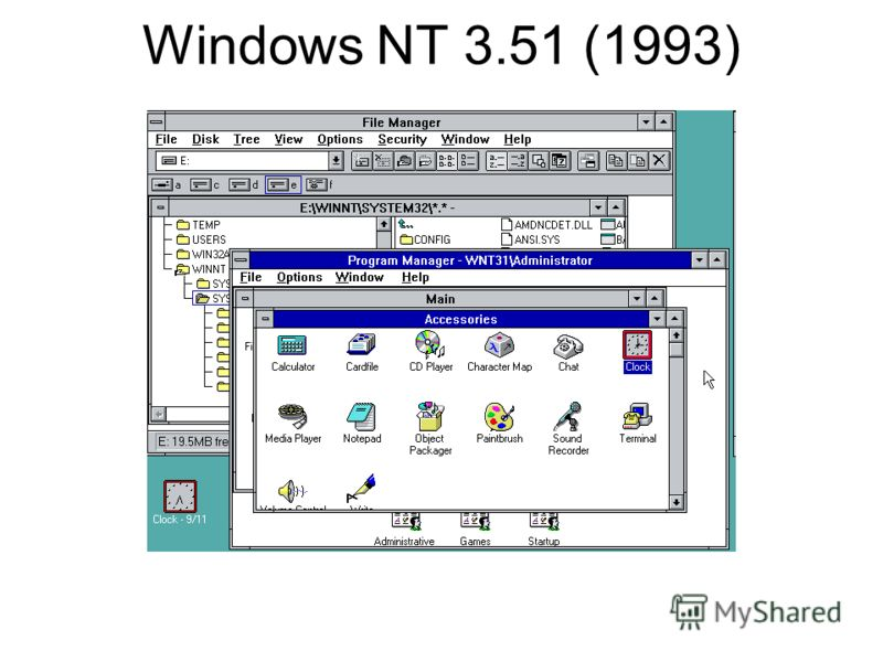 Windows NT 3.51 (1993)
