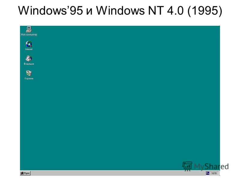 Windows95 и Windows NT 4.0 (1995)