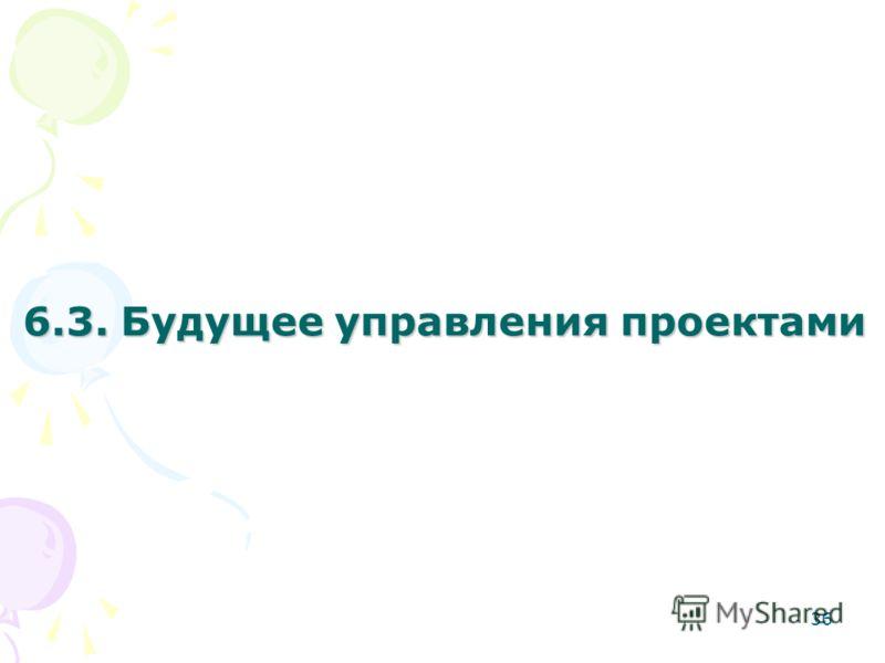 6.3. Будущее управления проектами 36