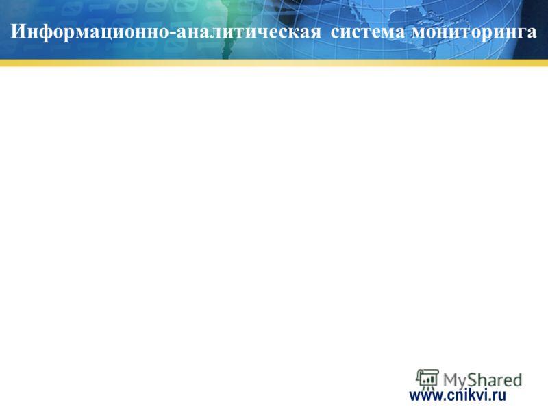 Информационно-аналитическая система мониторинга www.cnikvi.ru
