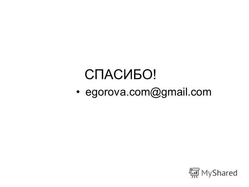 СПАСИБО! egorova.com@gmail.com